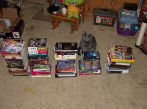 Books! And my mother's cat.